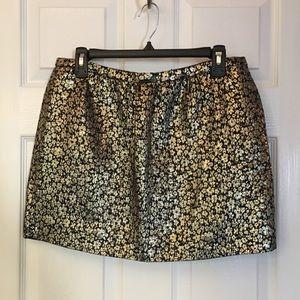 J Crew Collection floral jacquard mini skirt SZ 8